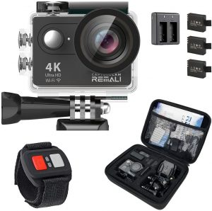 REMALI CaptureCam 4k Ultra HD and 12MP Waterproof Sports Action Camera